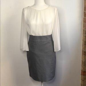 Banana Republic Petite Gray Knit Pencil Skirt 0